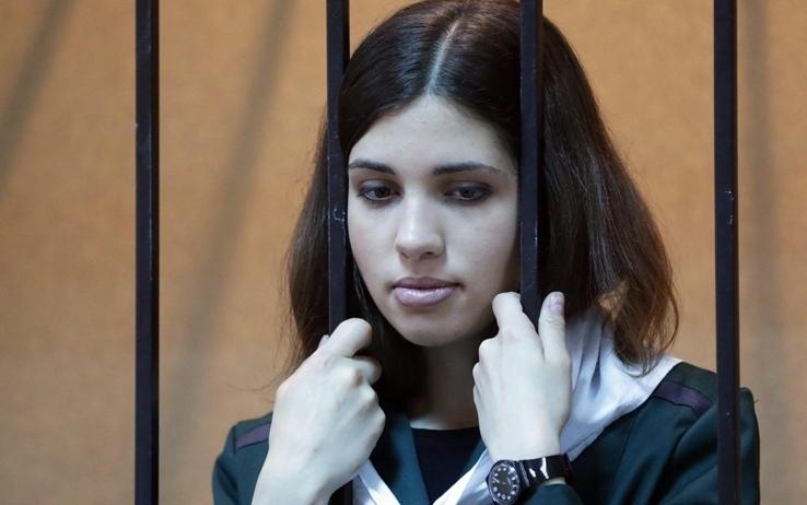Nadia Tolokonnikova delle Pussy Riot in sciopero della fame