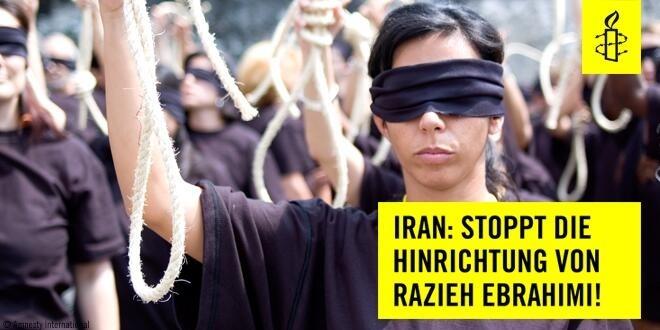 Lunedì Razieh Ebrahimi sarà giustiziata ha ucciso il marito quando aveva 17 anni