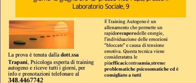 vuoi provare almeno una volta il training autogeno?