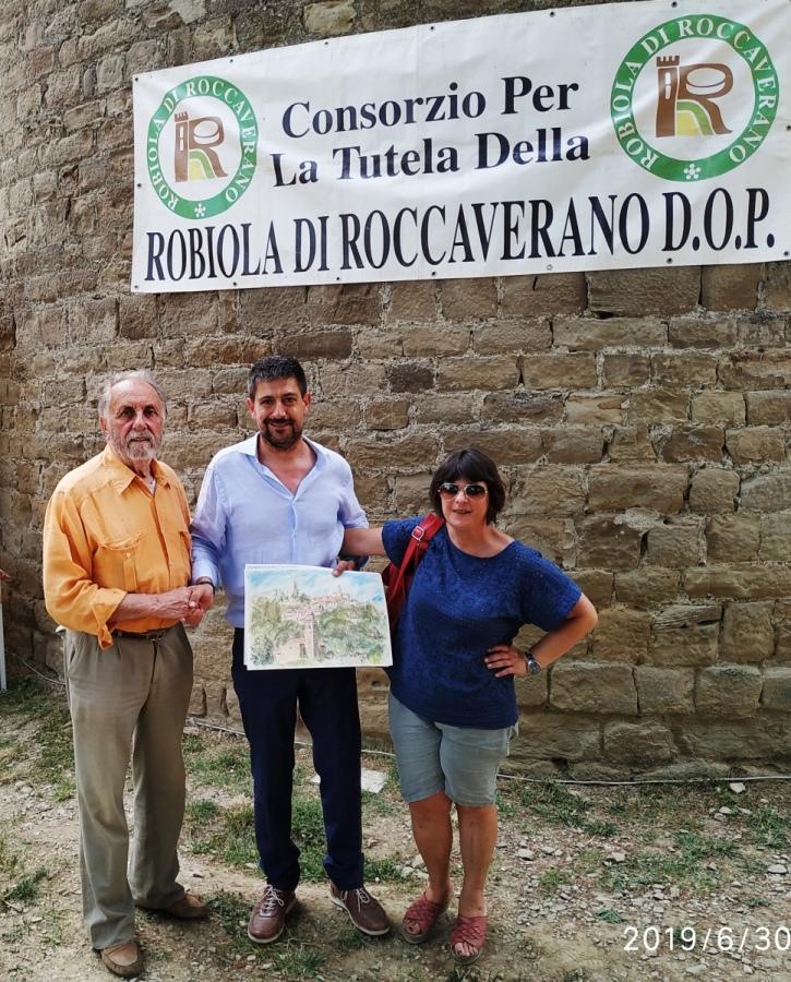 Il sindaco Vergellato ha ricevuto in dono un dipinto riprodotto all'interno