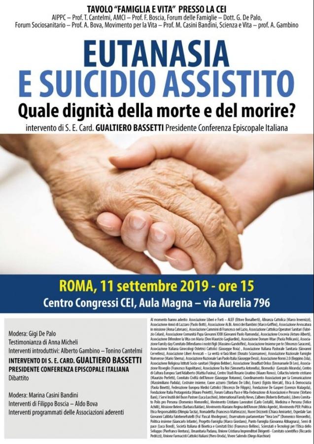 11 Settembre 2019, Roma, ore 15 presso l'Aula Magna del Centro Congressi C.E.I