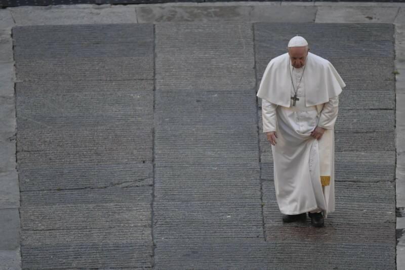 """""""Svegliati Signore, la nostra fede e debole e siamo timorosi"""" ha detto il Papa"""